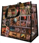 Foot Bag for New York Postcard Tote Style Bag - Medium Size