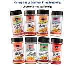 Chef's Fun Foods - Gourmet Fries Seasoning Variety 9 Flavor Set - USA 48 States CONSUMERS ONLY