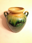 Decorative Ceramic Mural Jars from Provence - Green and Honey Dribbles - Visiting Southern Delaware Clients ONLY