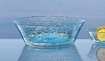 Biot Bubbled Glass Ice or Fruit Salad Bowl and Dessert Bowls Set