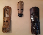 Fair Trade  African Handmade Wooden Carved Masks - Cash & Pick Up - Visiting Southern Delaware Clients ONLY