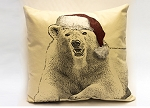 Christmas Pillow Set of 3 Square Pillows (Hats)